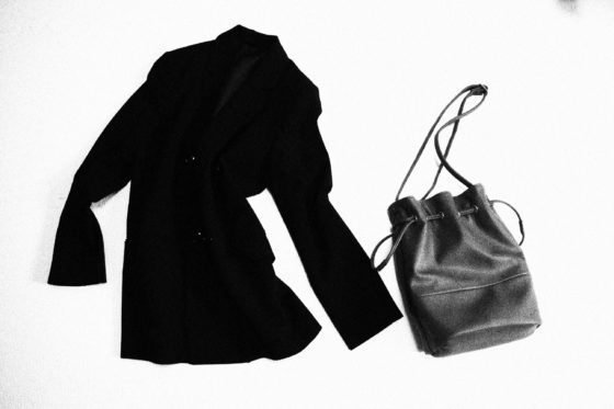 Black jacket and bag