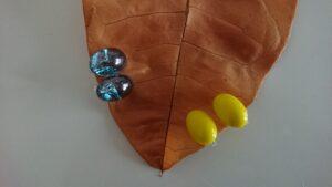 葉っぱと2つのイヤリング
