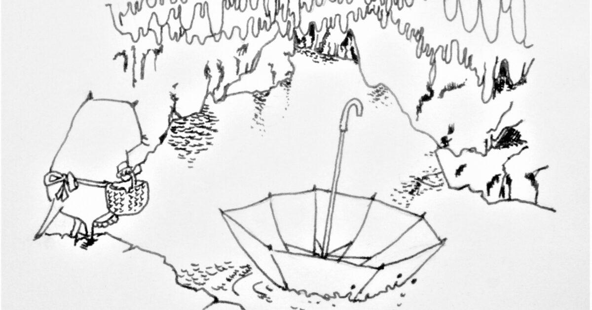 鍾乳洞の傘